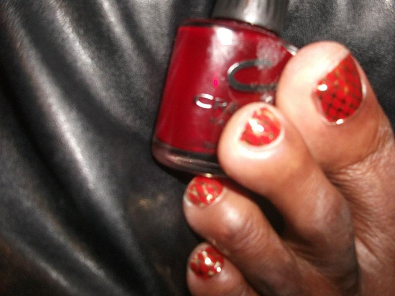 nail paint applied