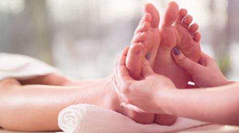 foot massage in progress