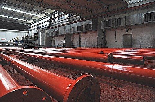 tubi rossi per sabbiatura metalli