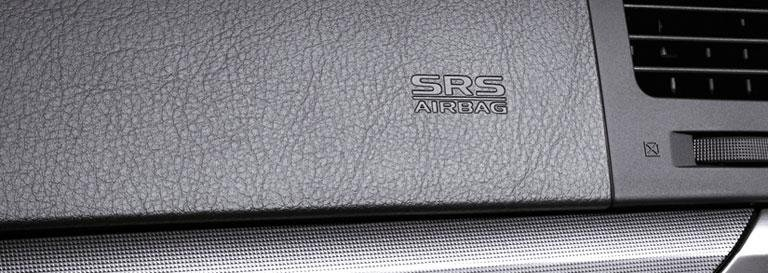 logo SRS Airbag sul cruscotto