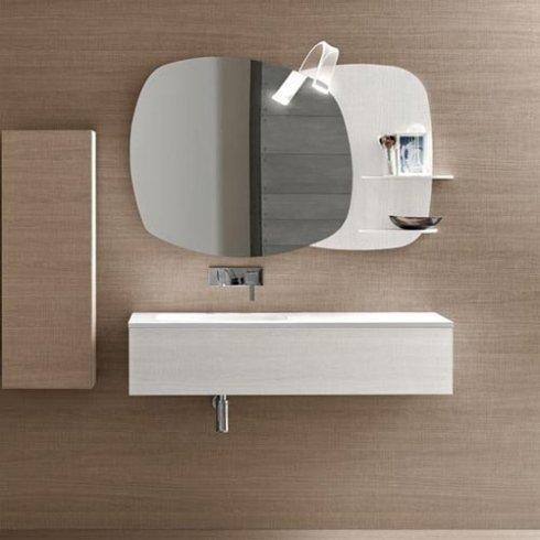 Mobile per bagno modello Graffiato Cotone e Sabbia