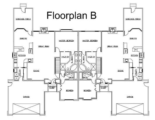 Duplex-style condominiums