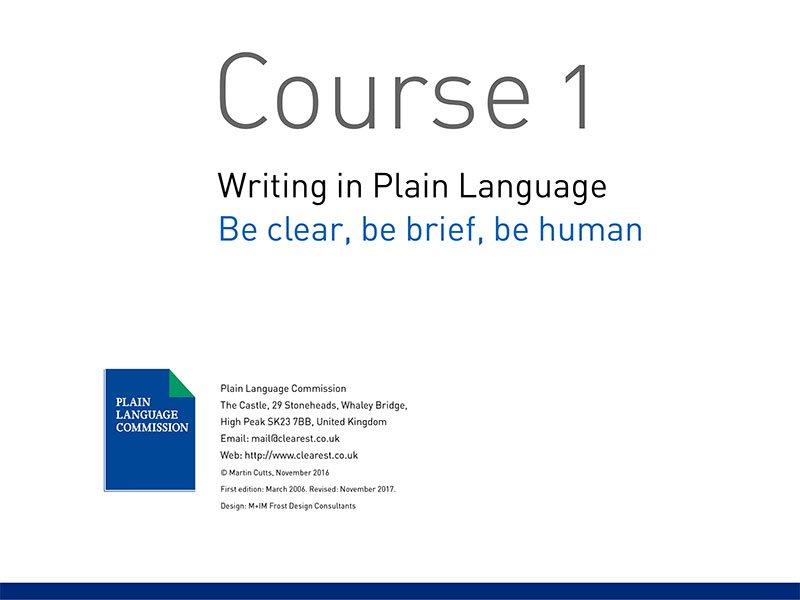 Course slide 1