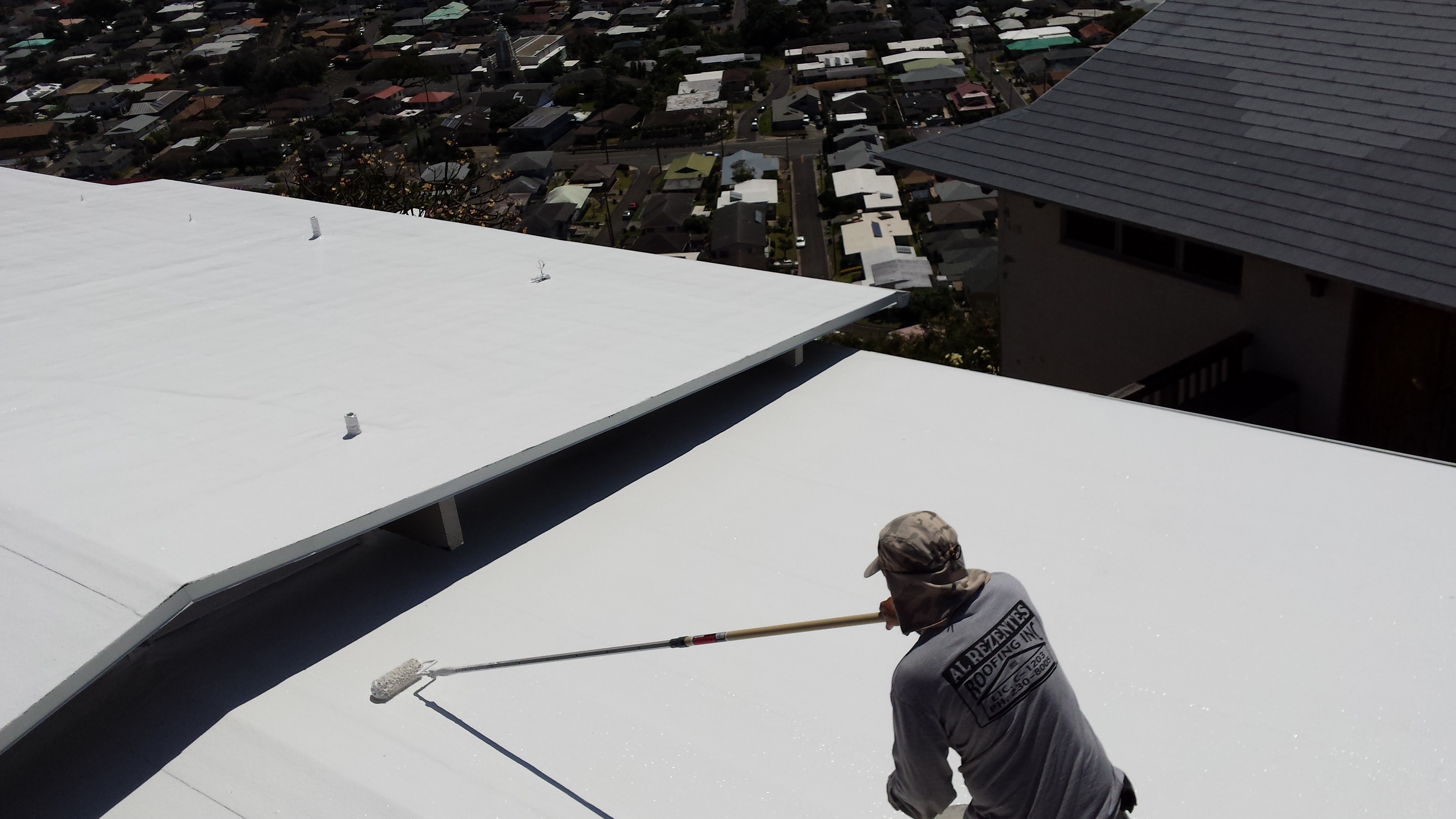 Beautiful roof by our roofing contractors on Oahu