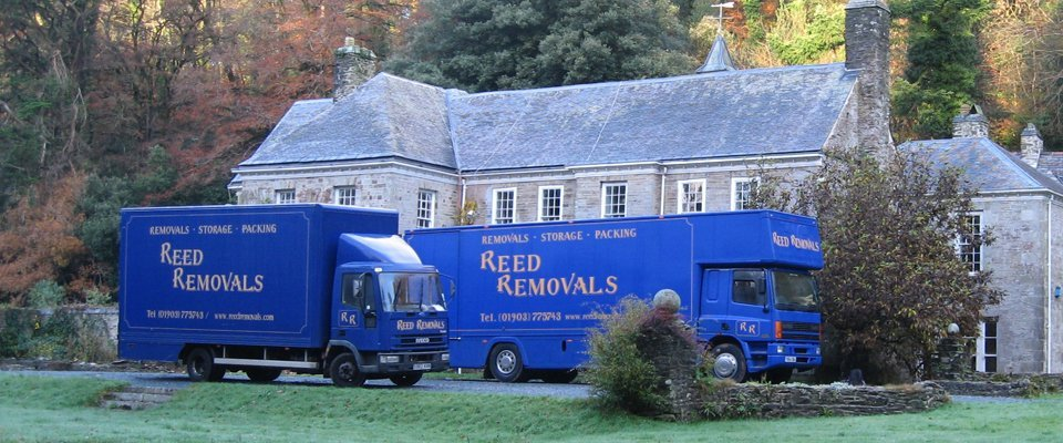 Two Reed Removals company truck