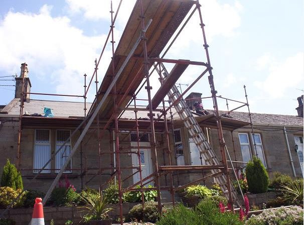 domestic roof installation work