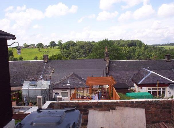 slate roof being installed