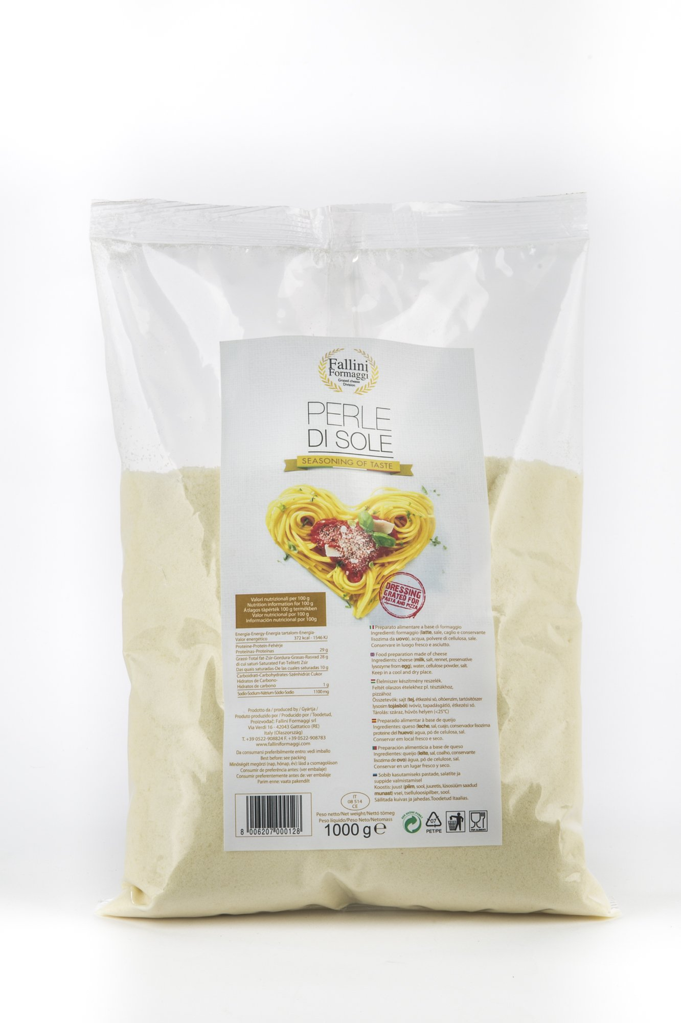 Shaker da 80gr di formaggio grattuggiato - Fallini Formaggi
