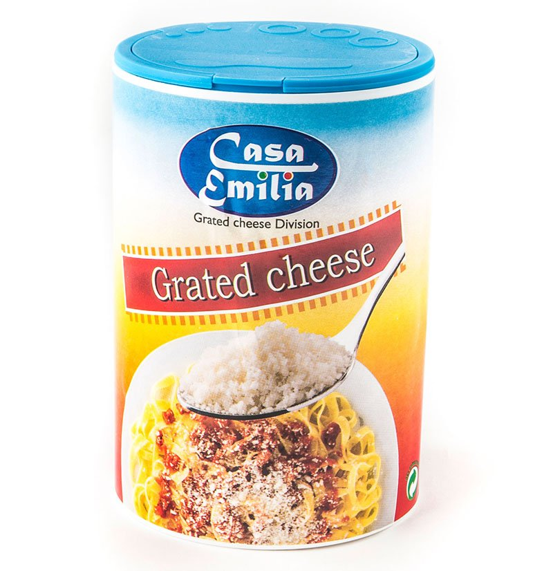 Shaker da 250 gr di formaggio grattuggiato - Casa Emilia