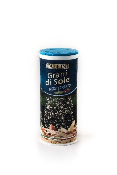 Shaker da 80gr di formaggio grattuggiato gusto Mediterraneo - Grani di Sole
