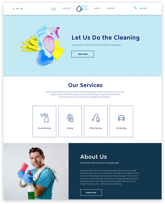 Small business websites logical position accmission Image collections