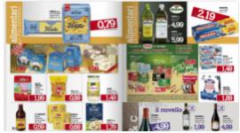 prodotti alimentari in promozione, immagini di prodotti scontati, depliant con prodotti alimentari in offerta