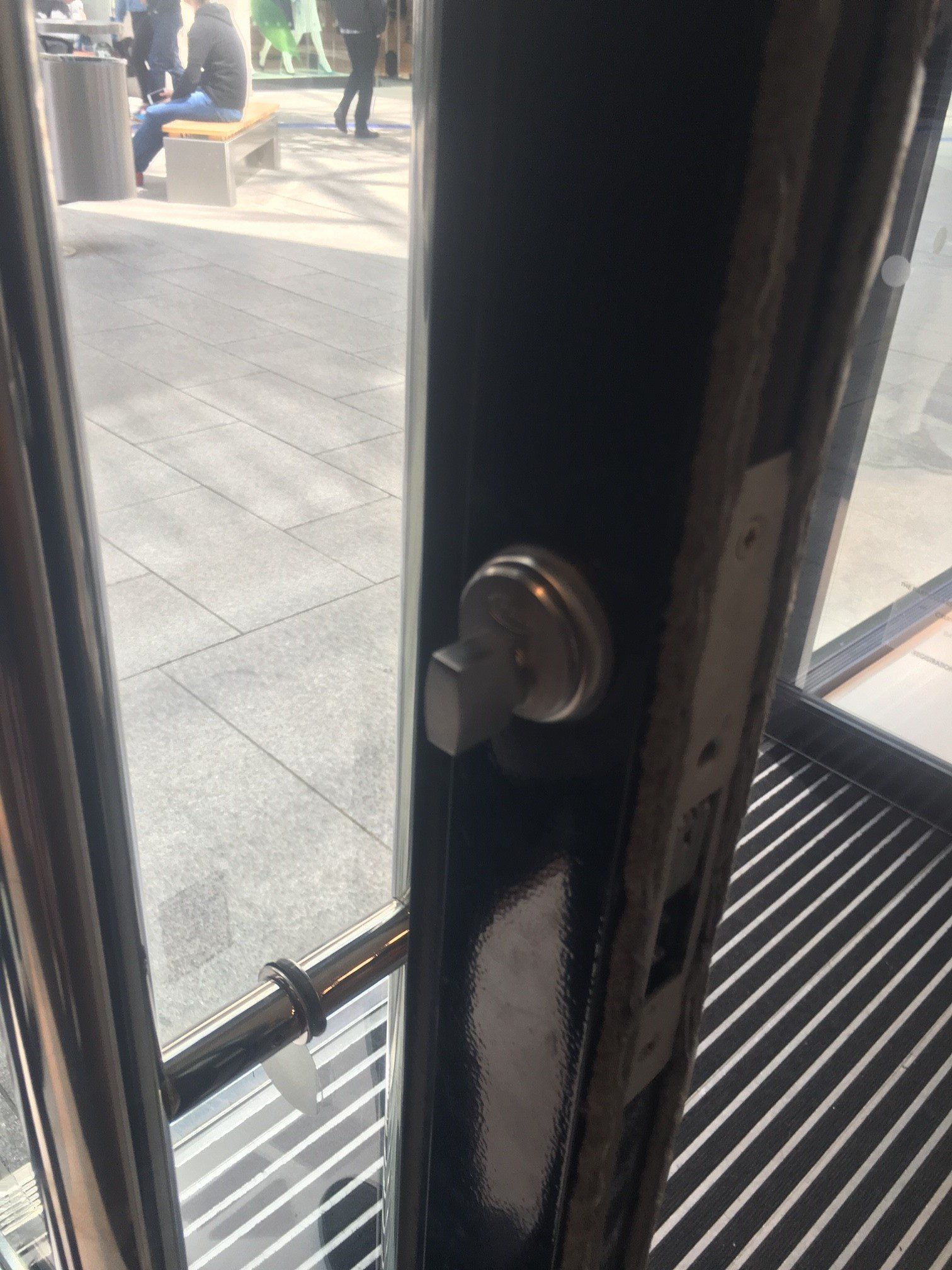 home door lock fitting