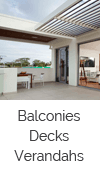 Balconies, decks and verandahs