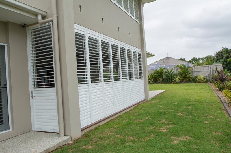 Stacking Shutters On Sunshine Coast