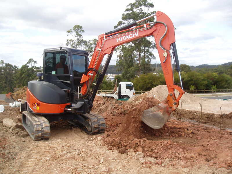 Hitachi excavator equipment in Gold Coast