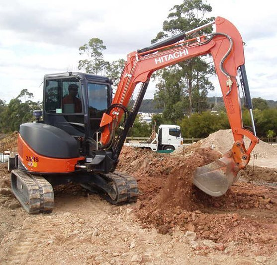 Earthmoving equipment of a bobcat excavator services in Gold Coast