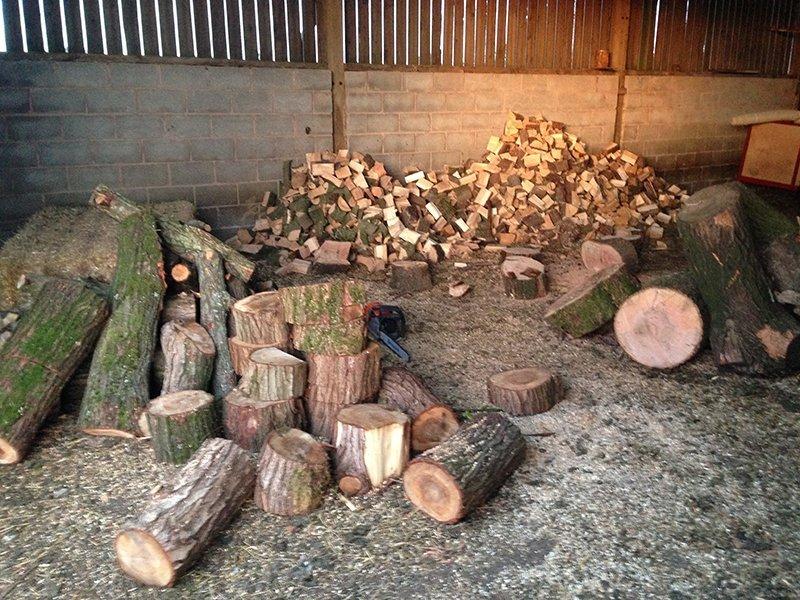 Seasoned log supply