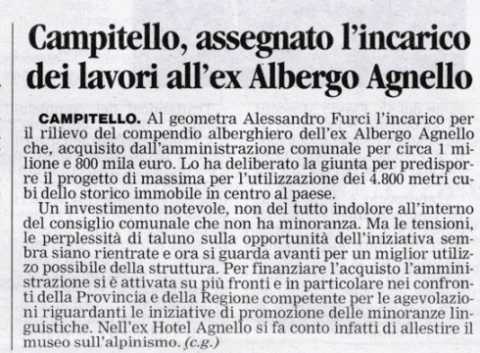 ex albergo Agnello