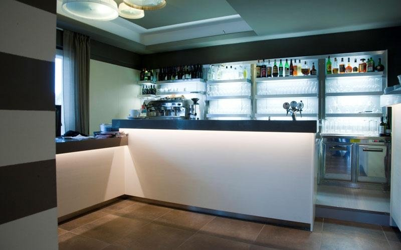 Hotel restaurant with bar