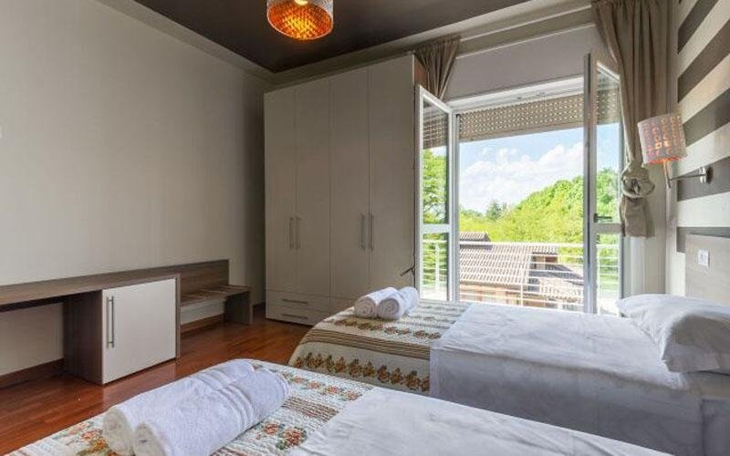 A view of the Le Colline Hotel rooms