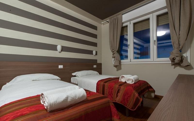 Camera doppia pulita e pronta ad accogliere gli ospiti