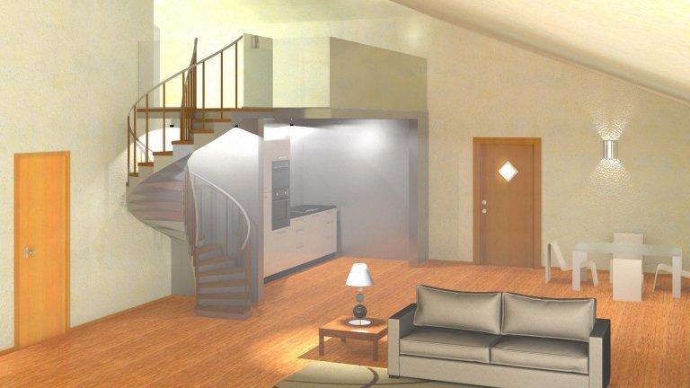 immagine in CAD di una camera da letto moderna