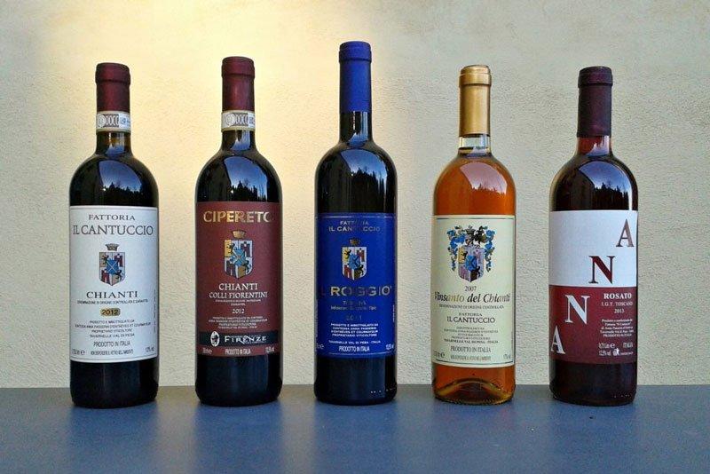 delle bottiglie di vini italiani rinomati