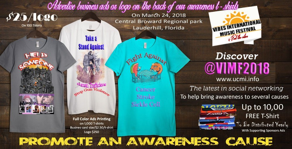 Advertise on our awareness t-shirts