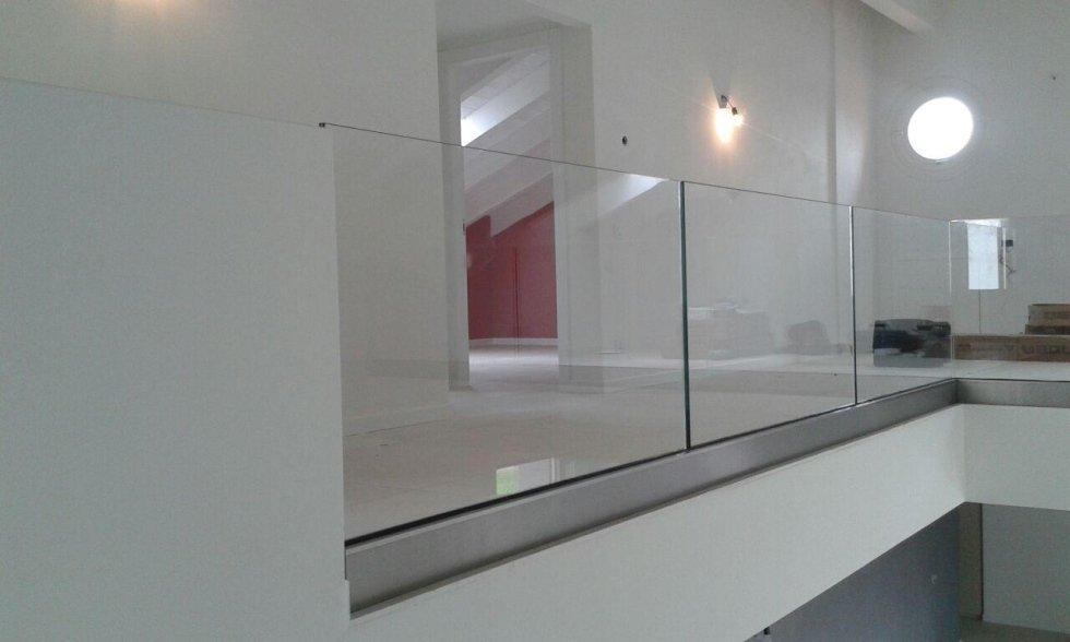 vetro parapetto