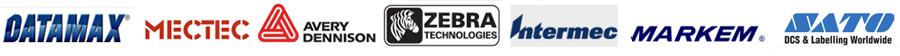 DATAMAX MARKEM ZEBRA logos