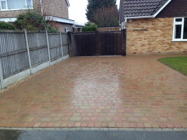 Mellow stone tumbled driveway in Frinton on sea