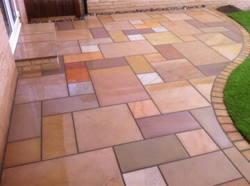 multi coloured patio