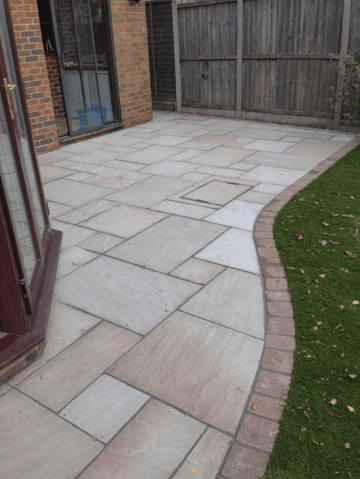 Bradstone Sandstone patio in Heather