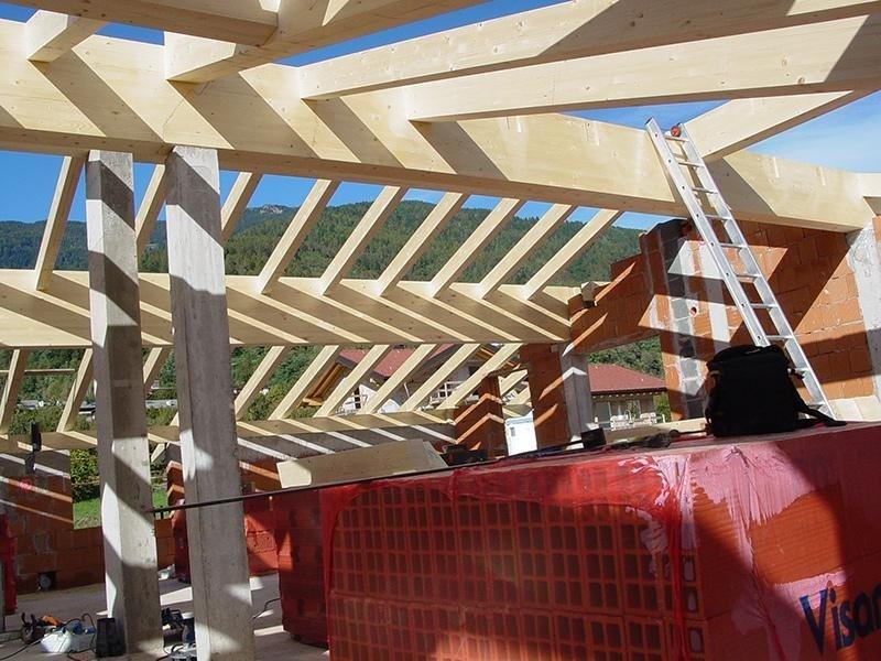 struttura in legno di larice