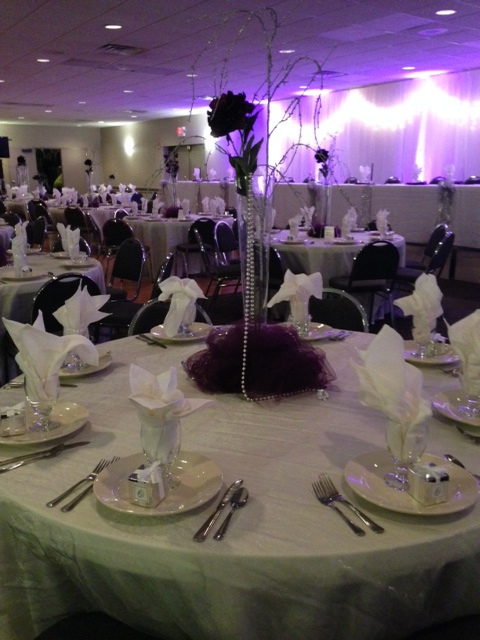elegant touch to this special event by our interior designers