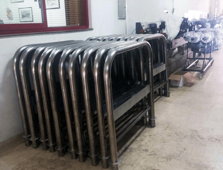 Realizzazione transenne in acciaio inox aisi 316 e 304 realizzato con tubo