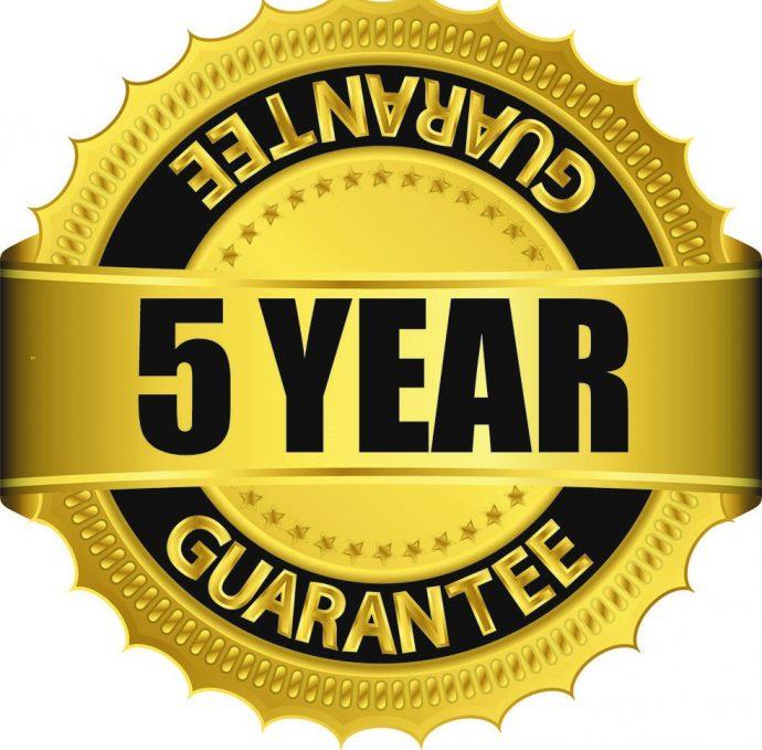 five year guarantee