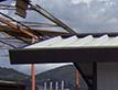 Tetti, tettoie, coperture in acciaio per impianti sportivi e altre coperture.