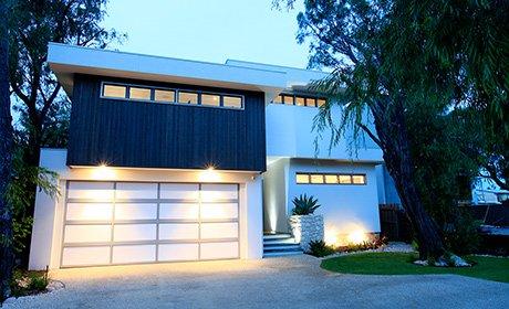 the roller door man nq pty ltd modern house with stylish garage door