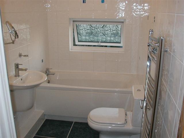 bathroom with double glazing window