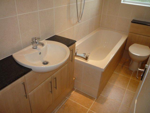 bath tub installed