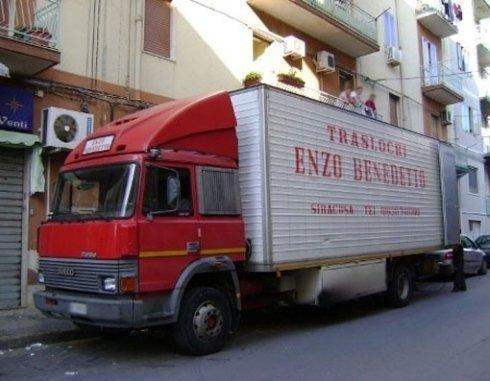 Uno dei mezzi di trasporto utilizzati per i traslochi.