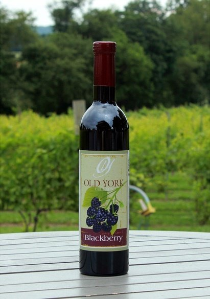 Wine bottle from Old York Winery