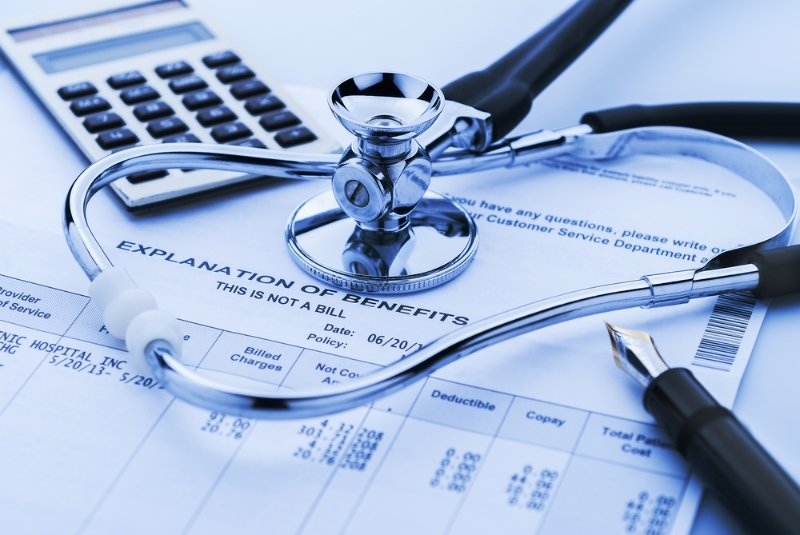 Paperwork explaining health care benefits
