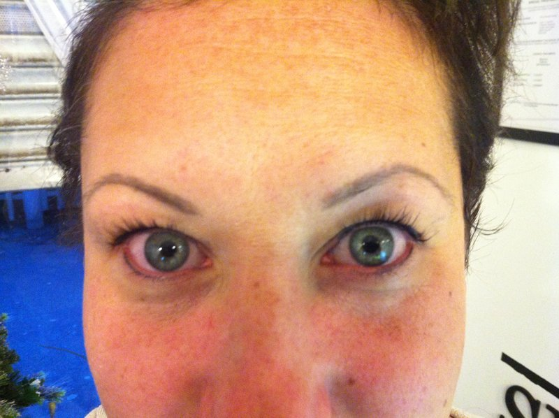 After Lashnv lift treatment session
