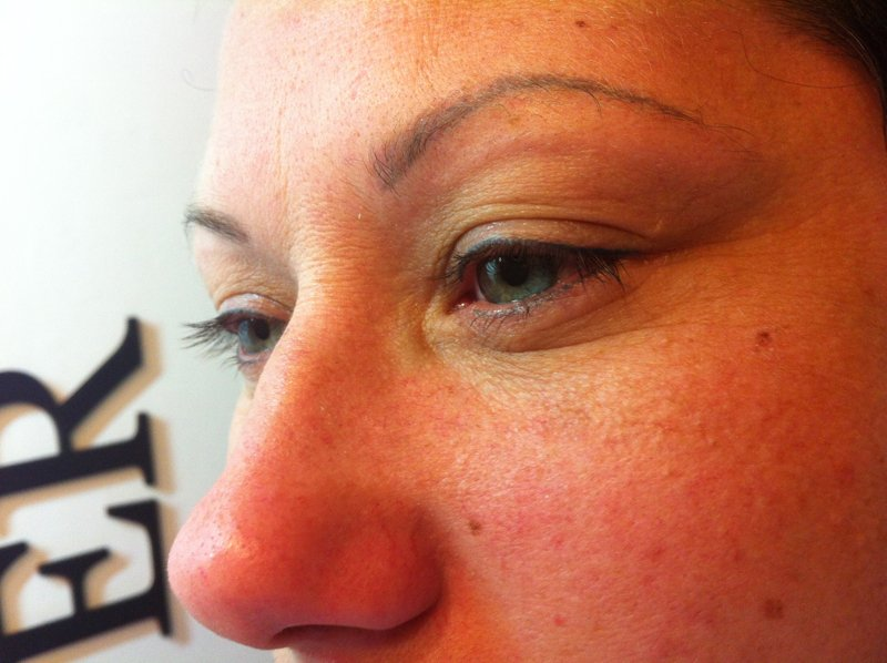 Before Lashnv lash lift treatment