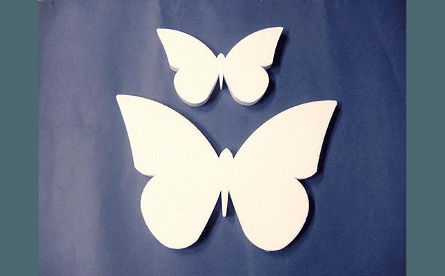 farfalle in polistirolo