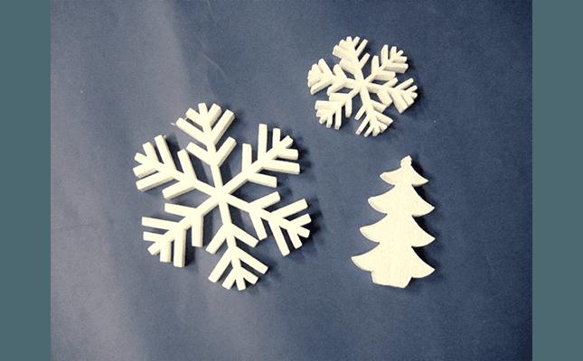 fiocchi di neve in polistirolo