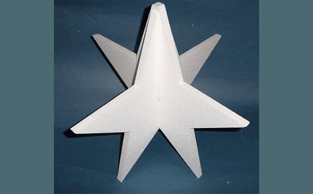 stella incastrata in polistirolo